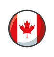 isolated canada flag icon block design vector image