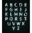 Low poly cristal alphabet font vector image vector image