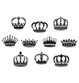 Medieval heraldic crowns set vector image vector image
