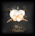 merry christmas elegant card with xmas balls and vector image