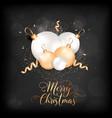 merry christmas elegant card with xmas balls vector image