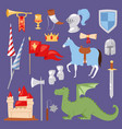 middle ages medieval knight heraldic royal crest vector image vector image