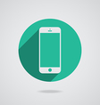 mobile iphone in white line vector image vector image