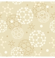 Molecules seamless pattern background vector image vector image