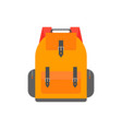 orange back pack for study schoolbag vector image vector image