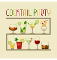 Party invitation with alcohol drinks and cocktails vector image vector image