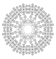 Pattern of snowflakes contours vector image