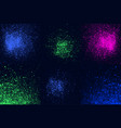 round blue green pink neon colors explosin splash vector image