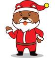 Santa Bear vector image vector image
