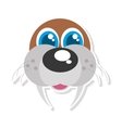 sea lion funny face isolated icon vector image vector image