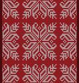seamless flower knitting pattern vector image vector image
