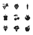 set of 9 editable dessert icons includes symbols vector image vector image