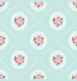 shabby chic rose seamless pattern background vector image vector image