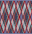 tartan seamless rhombus texture in many colors vector image vector image
