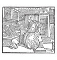 terence is an engraving of the playwright vintage vector image vector image