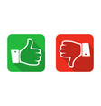 thumb up and down icon vector image vector image