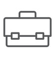 tool box line icon tool and maintenance vector image vector image