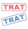 trat textile stamps vector image vector image
