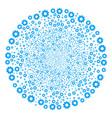 turbine fireworks sphere vector image vector image