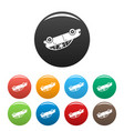turned car icons set color vector image vector image
