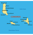 Union of the Comoros - map vector image