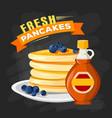 premium quality restaurant breakfasts vintage vector image