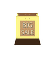 shopping bags brown vector image