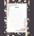 flowers poster template memory book with a vector image
