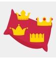 Gold Crowns Set vector image