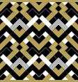 abstract geometric gold black and white pattern vector image vector image