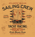 atlantic ocean sailing crew yacht racing vector image vector image