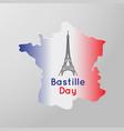 bastille day logo icon design vector image