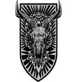 blooming skull vector image vector image