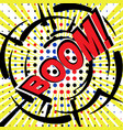 boom wording sound effect set design for comic vector image vector image