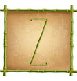 capital letter z made of green bamboo sticks on vector image