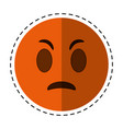 cartoon angry emoticon funny icon vector image