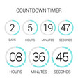 circle countdown clock counter timer on white vector image