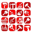 color construction and repair icons vector image vector image