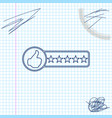 consumer or customer product rating line sketch vector image