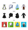 country germany cartoonblackflat icons in set vector image vector image