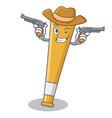 cowboy baseball bat character cartoon vector image vector image