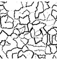 cracked texture of wall or earth vector image