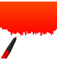 creative of highlighter pen vector image vector image
