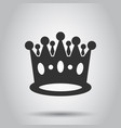 crown diadem icon in flat style royalty crown on vector image vector image