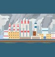 dirty factory air and water polluted vector image