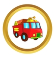 Fire truck icon vector image vector image