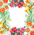 Floral and decorative frame design vector image vector image