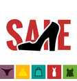 footwear sale icon vector image