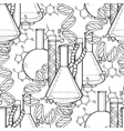 Genetic research pattern vector image vector image