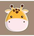 giraffe animal cute little design vector image